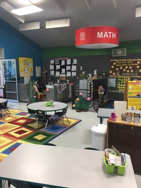 Our Math Center is always a fun place for learning!