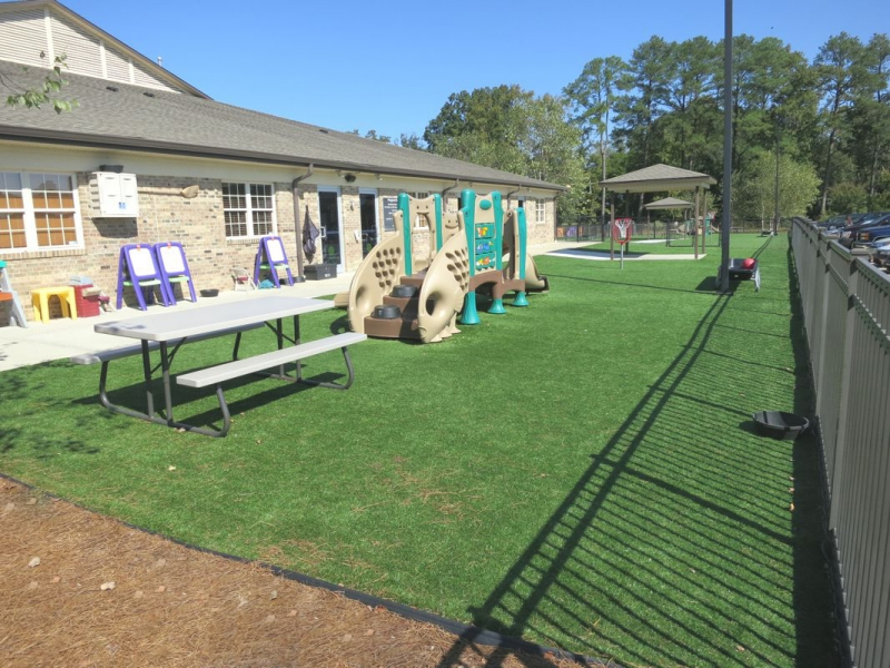 Our playgrounds are age appropriate and built for fun.