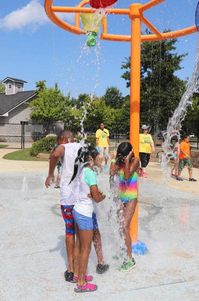 Cooling down and having fun at the water_park!