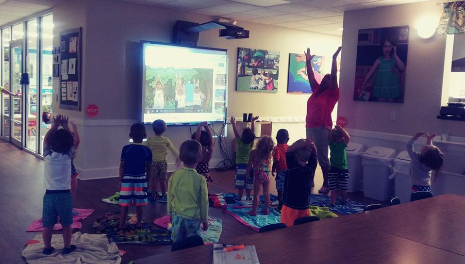 We offer Yoga classes to our students!