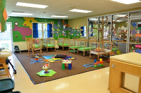 Infants have lots of room to play and explore!