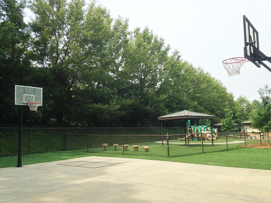 Kids-size full court Basketball