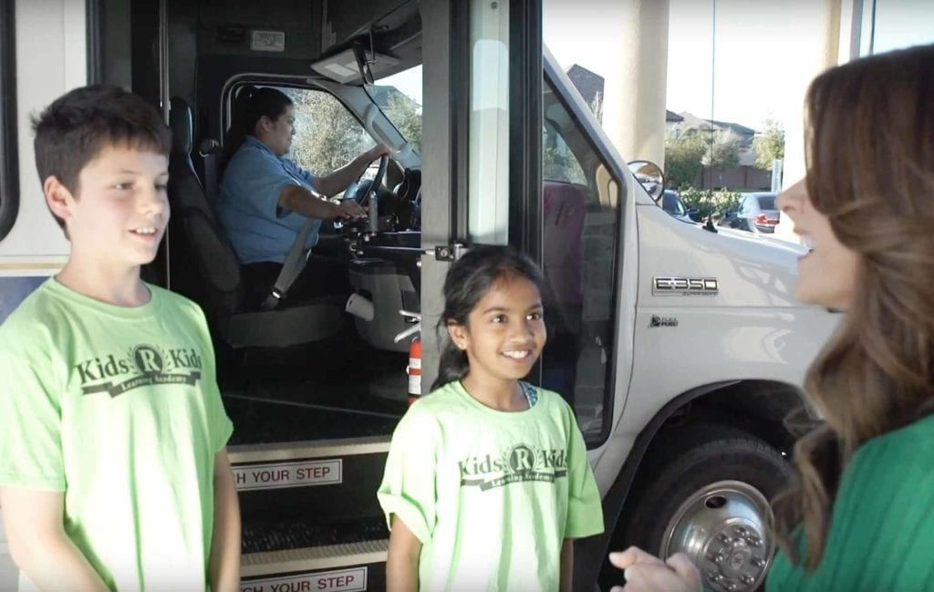 School buses with seat belts provide transportation to and from local elementary schools as well as to planned field trips.