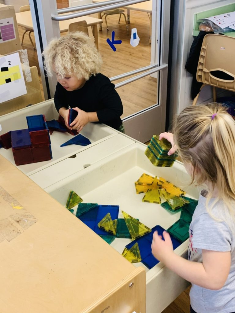 Hands- on activities (such as building with magnets)