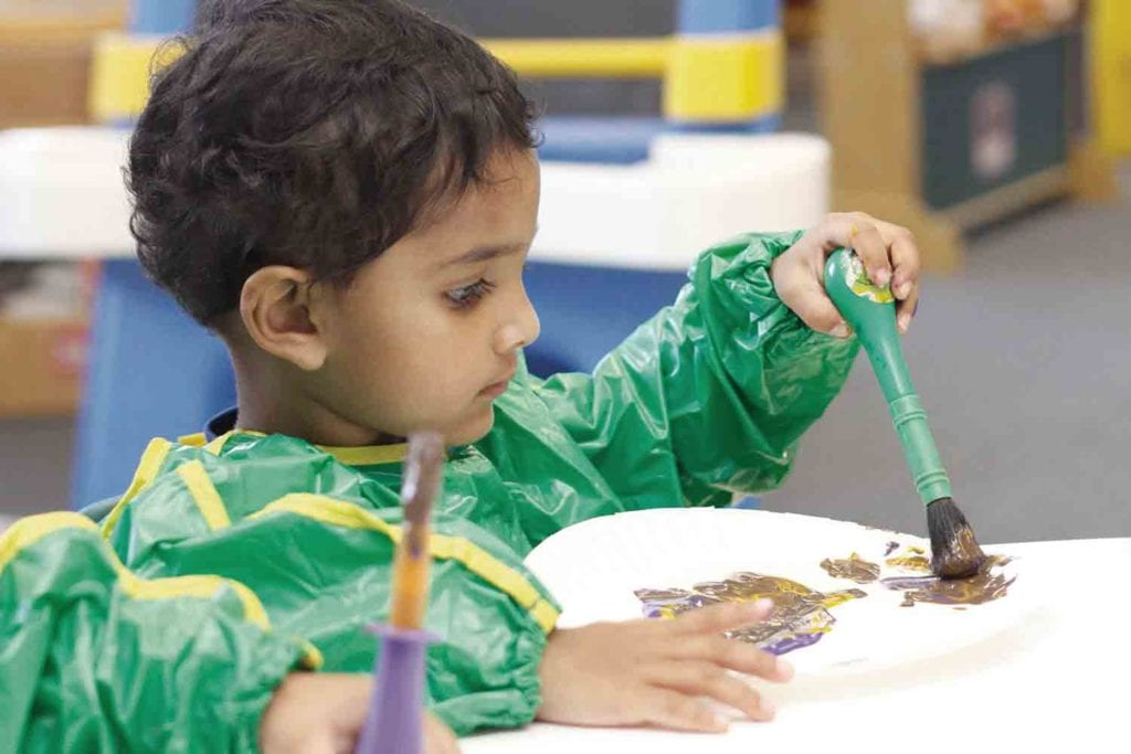 Our Toddler Program encourages each child to practice skills and develop independence.