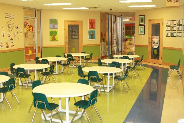 We love to serve family style in our Kids Cafe.  Sitting and eating together gives our students the opportunity to learn table manners and dining conversation skills.